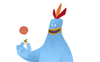 Mark Bird Illustration - Chirpy Chick