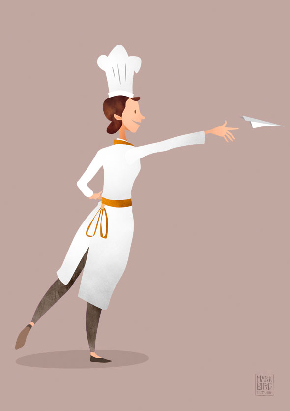 Kilogramme Chef Character | Mark Bird Illustration - Second of three character design illustrations for an advertising animation for Kilogramme studios.