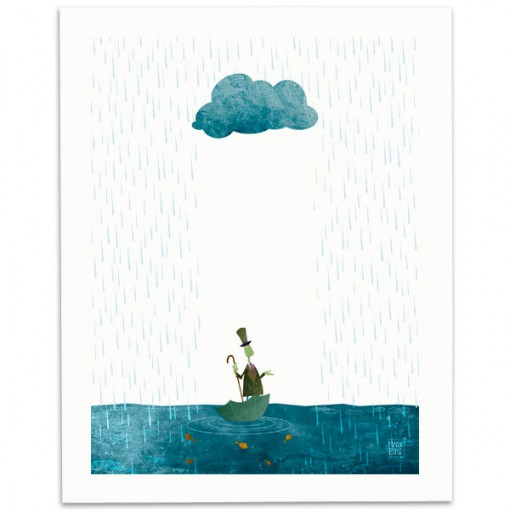Looks-Like-Rain-Print-Mark-Bird-Illustration