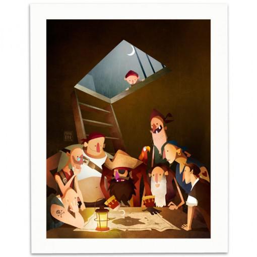 Secret-Treasure-Print-Mark-Bird-Illustration