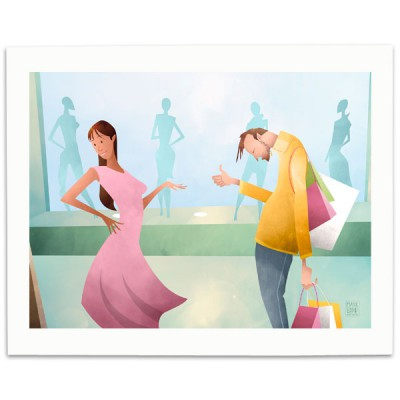 Shopping-Print-Mark-Bird-Illustration
