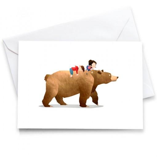 WA-Bear-Card-Mark-Bird-Illustration