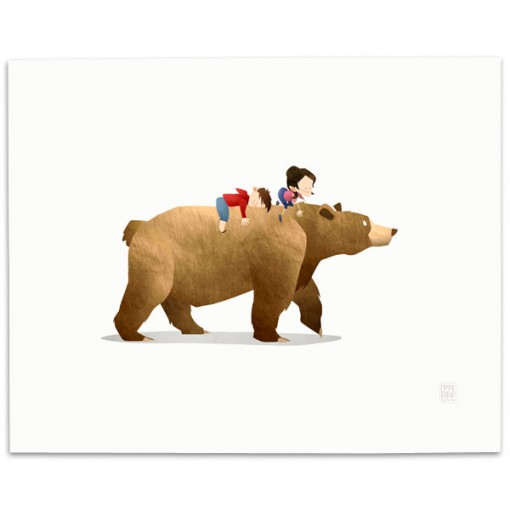 WA-Bear-Print-Mark-Bird-Illustration