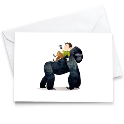 WA-Gorilla-Card-Mark-Bird-Illustration