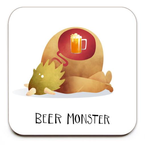 Beer-Monster-No.2-Coaster-Mark-Bird-Illustration