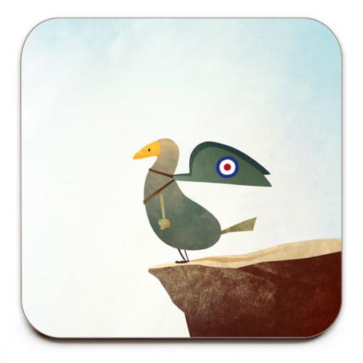 First-Flight-Coaster-Mark-Bird-Illustration