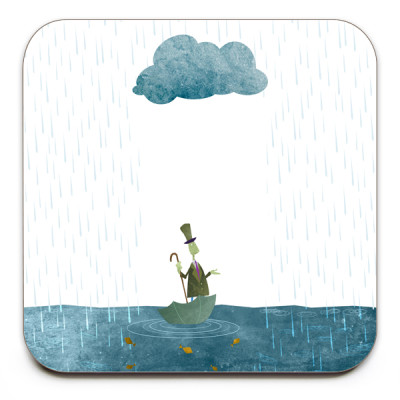 Looks-Like-Rain-Coaster-Mark-Bird-Illustration
