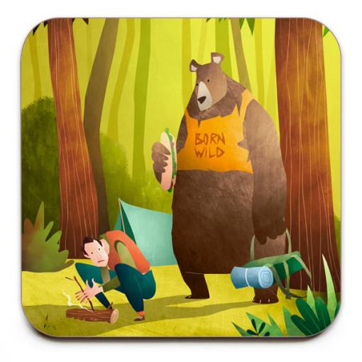 Survival-Skills-Coaster-Mark-Bird-Illustration