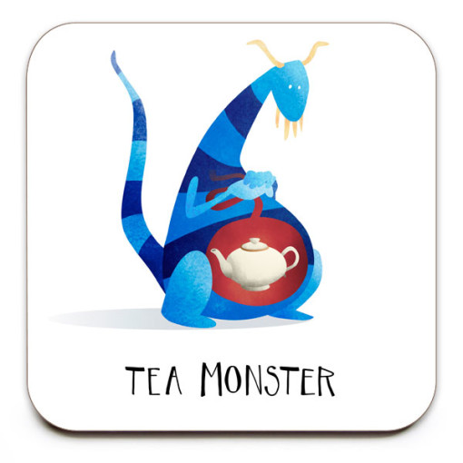 Tea-Monster-No.1-Coaster-Mark-Bird-Illustration