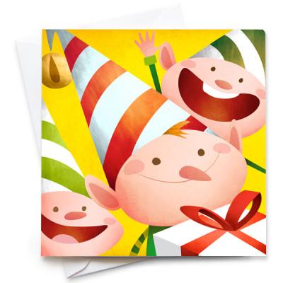 Elves-Card-Mark-Bird-Illustration