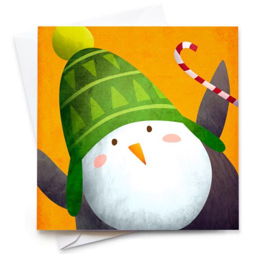 Penguin-Card-Mark-Bird-Illustration