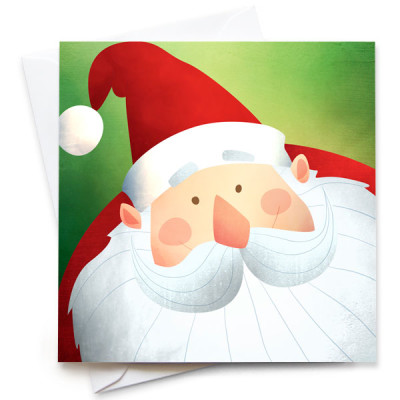 Santa-Card-Mark-Bird-Illustration
