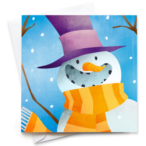 Snowman-Card-Mark-Bird-Illustration