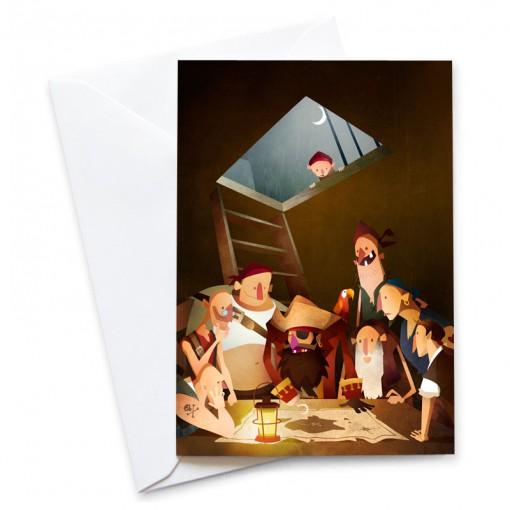 MB-Secret-Treasure-Card-Mark-Bird-Illustration