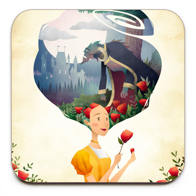 Beauty-And-The-Beast-Coaster-Mark-Bird-Illustration