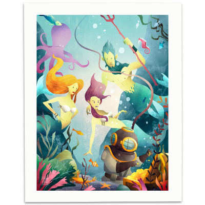Deep-Sea-Divers-Print-Mark-Bird-Illustration