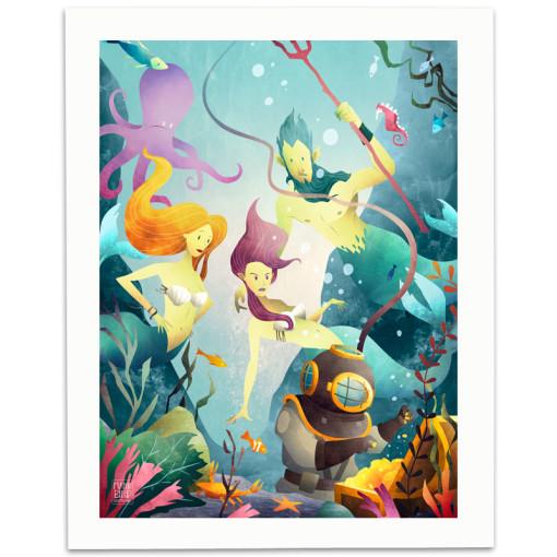 Deep-Sea-Divers-Print-Mark-Bird-Illustration