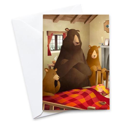 Goldilocks-And-The-Three-Bears-Card-Mark-Bird-Illustration