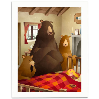 Goldilocks-And-The-Three-Bears-Print-Mark-Bird-Illustration