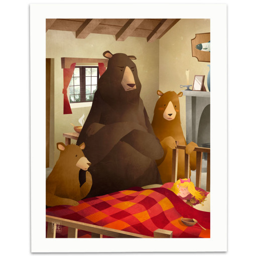 Goldilocks-And-The-Three-Bears-Print-Mark-Bird-Illustration