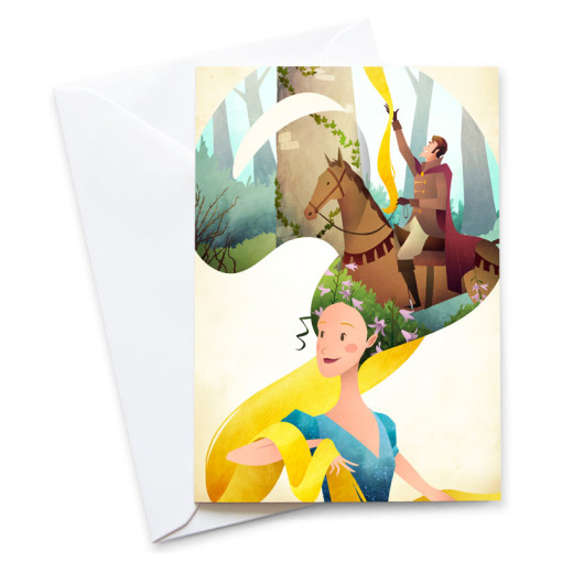 Rapunzel-Card-Mark-Bird-Illustration