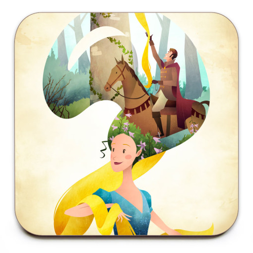 Rapunzel-Coaster-Mark-Bird-Illustration