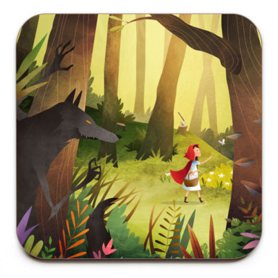 Red-Riding-Hood-Coaster-Mark-Bird-Illustration