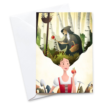 Snow-White-Card-Mark-Bird-Illustration