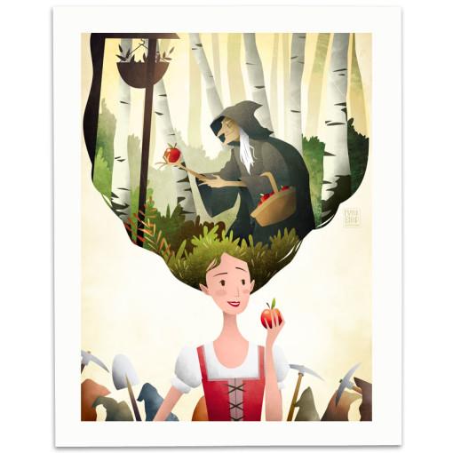 Snow-White-Print-Mark-Bird-Illustration