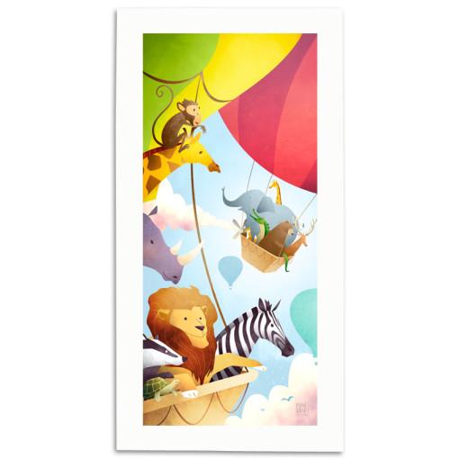 The-Great-Animal-Balloon-Race-Print-Mark-Bird-Illustration