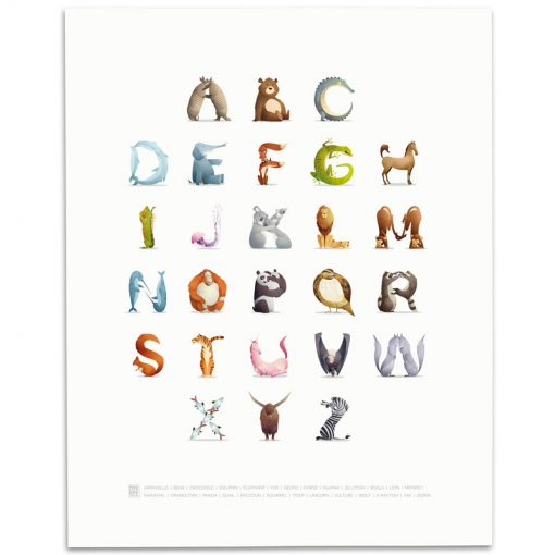 ABC-Animal-Alphabet-Print-Mark-Bird-Illustration