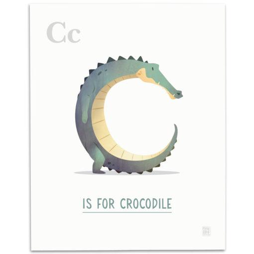 ABC-Animal-Alphabet-Print-C-Mark-Bird-Illustration