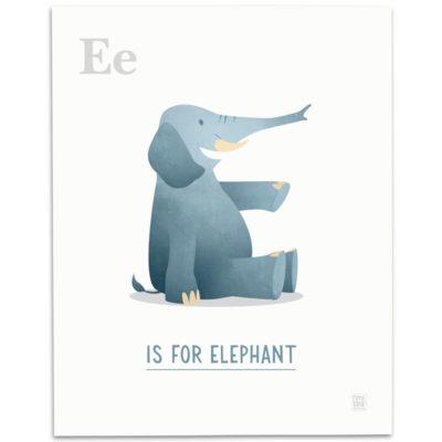 ABC-Animal-Alphabet-Print-E-Mark-Bird-Illustration