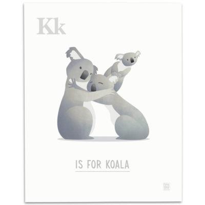 ABC-Animal-Alphabet-Print-K-Mark-Bird-Illustration