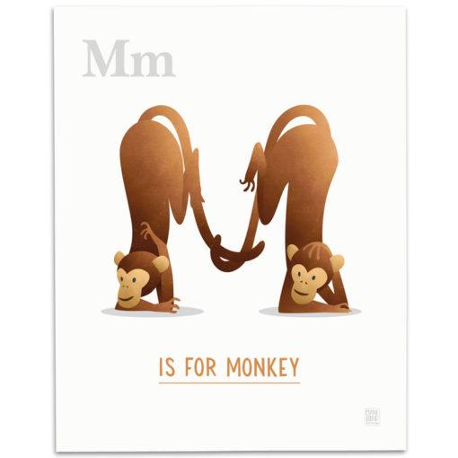 ABC-Animal-Alphabet-Print-M-Mark-Bird-Illustration