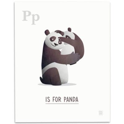 ABC-Animal-Alphabet-Print-P-Mark-Bird-Illustration