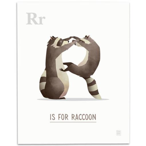 ABC-Animal-Alphabet-Print-R-Mark-Bird-Illustration