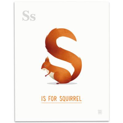 ABC-Animal-Alphabet-Print-S-Mark-Bird-Illustration