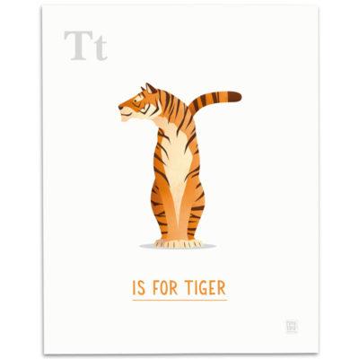 ABC-Animal-Alphabet-Print-T-Mark-Bird-Illustration