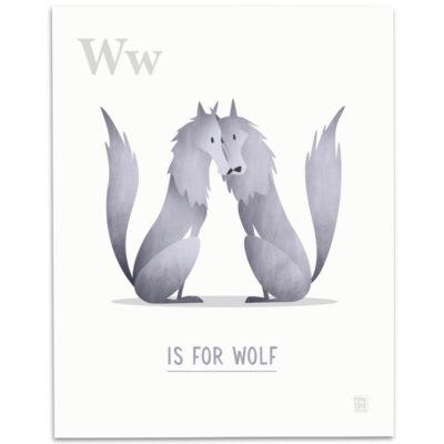 ABC-Animal-Alphabet-Print-W-Mark-Bird-Illustration