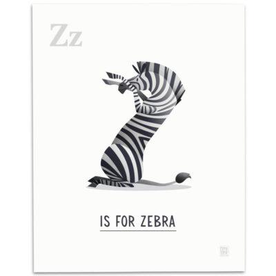 ABC-Animal-Alphabet-Print-Z-Mark-Bird-Illustration