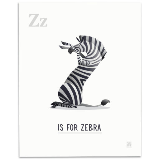 ABC-Animal-Alphabet-Print-Z-Mark-Bird-Illustration