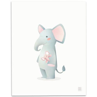 Elephant-Nursery-Print-Mark-Bird-Illustration