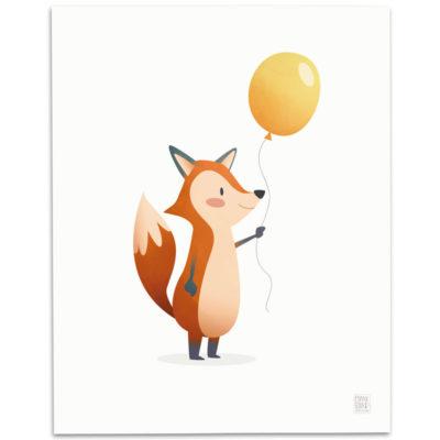 Fox-Nursery-Print-Mark-Bird-Illustration