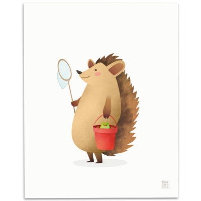 Hedgehog-Nursery-Print-Mark-Bird-Illustration