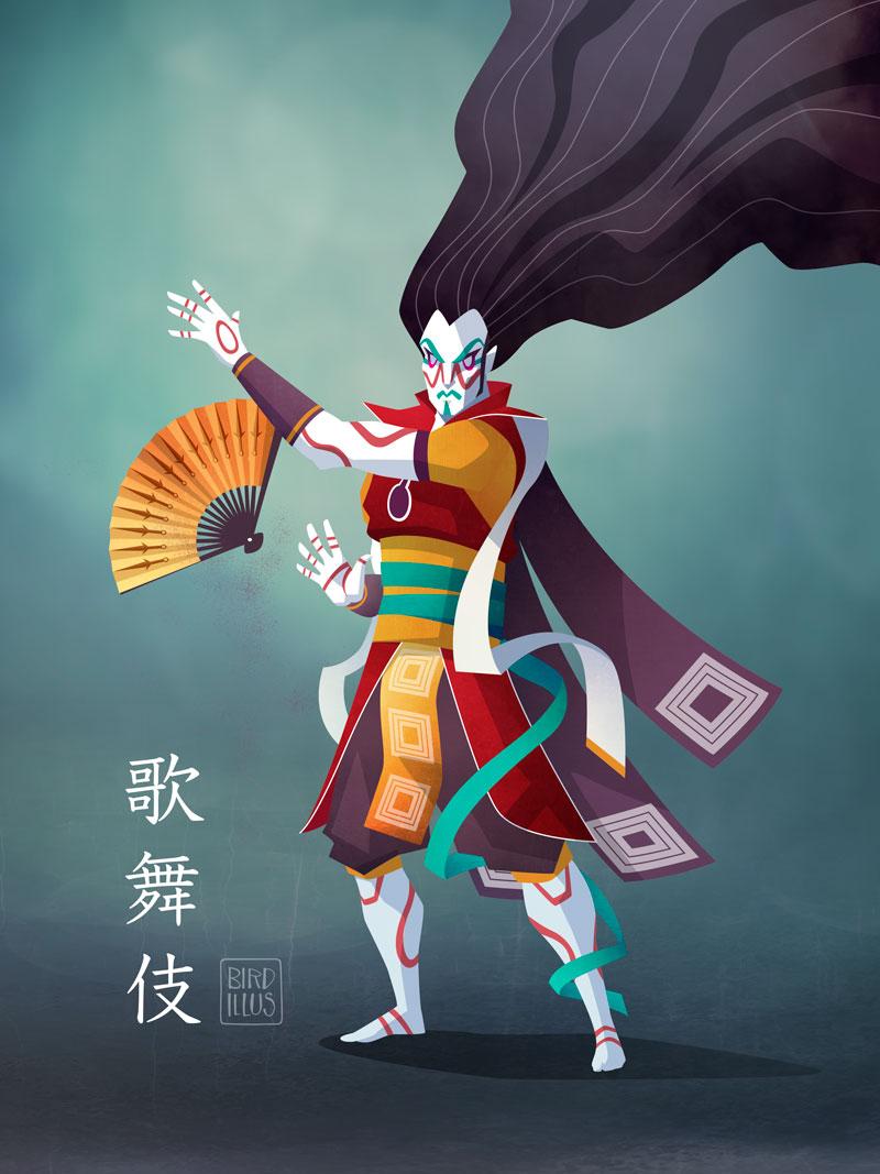Kabuki Theatre - Character Design Challenge
