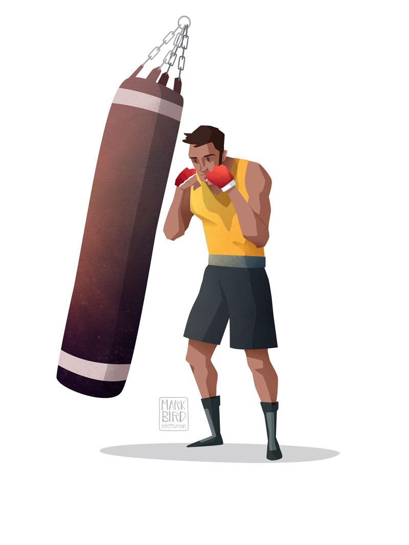 Boxing - Editorial Illustration