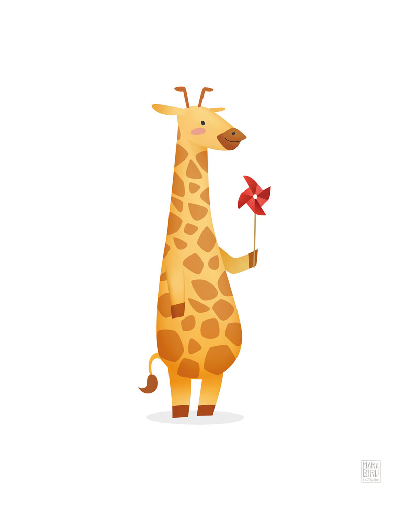 Nursery Giraffe - Children's Print Illustration