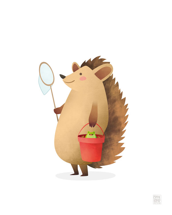 Nursery Hedgehog - Children's Print Illustration