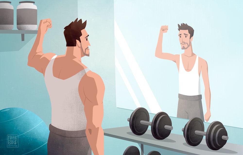 Muscle Dysmorphia - Editorial Illustration